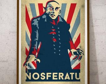 Nosferatu Retro #1 - Count Orlok , horror, dracula, vampire, poster, retro, vintage, design, Transylvanian