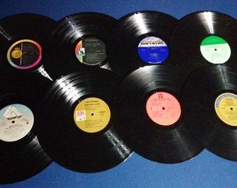 Set of 16 Vintage Crafting Vinyl, 12 Inch, Colorful Labels Set #2 /DIY Coasters / Crafting Albums