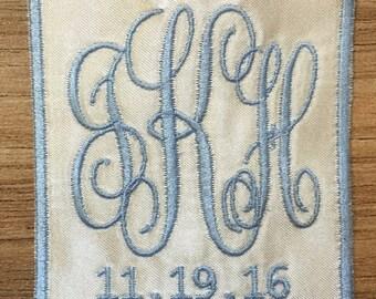 Something Blue - Wedding Dress Monogram (square)