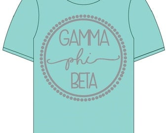 Gamma Phi Beta  // Gamma Phi //  Sorority Comfort Color Short Sleeve Signature 2.0 Tshirt // Choose Your Color