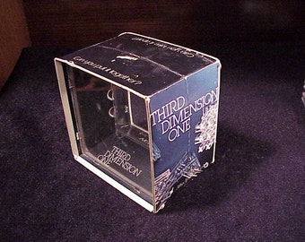Third Dimension One Puzzle, no. 2301, made by Mag-Nif, dated 1972, brain teaser, sculptural, plastic