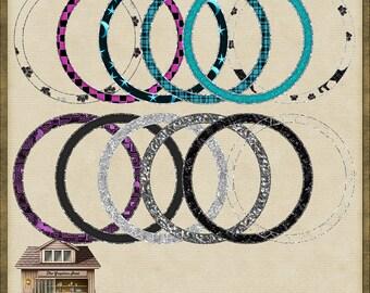 12 Modern Fashion Circle PNG Frames 1 *Instnant Download*