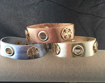 Leather Snap Cuff