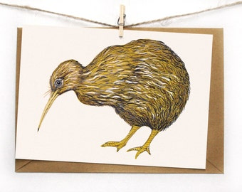 Postcard Greeting Card Kiwi Bird