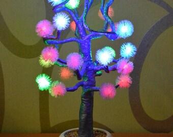 "Светильник -ночник, дерево ""Зимняя сказка""/Lamp - Night Light tree "" Winter's Tale """