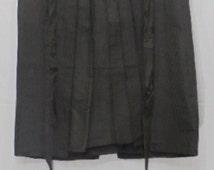 HOT SALE!!! Vintage Japanese Samurai Hakama Skirt / Andon / Kimono Pants / Striped Green & Black