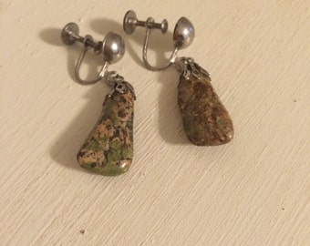 Vintage Stone Earrings