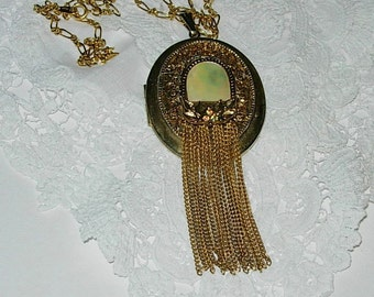 Handmade Upcycled Locket with Chain