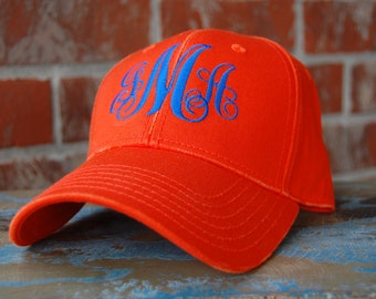 Mongrammed Baseball Hat-Gators Cap-monogrammed hat-Orange-baseball cap-Gators-Monogrammed Cap-Monogrammed Gift-Florida Gators Cap-Gators Fan