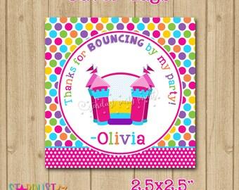 Bounce Favor Tags, Bounce House Favor Tags, Bounce Castle Favor Tags, Bounce Thank You Tags, Jump Favor Tags
