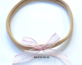 PINK FAIRY DUST hand tied bow