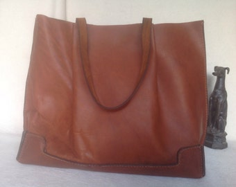 Tuxie, Horween Leather Handbag, Tote, Handstitched and Handcut