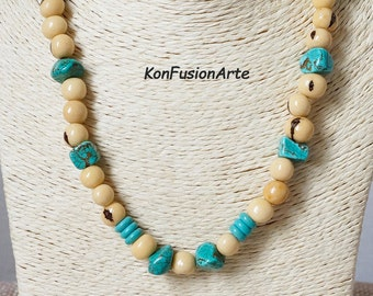 Necklace Forest Seeds and Turquoise