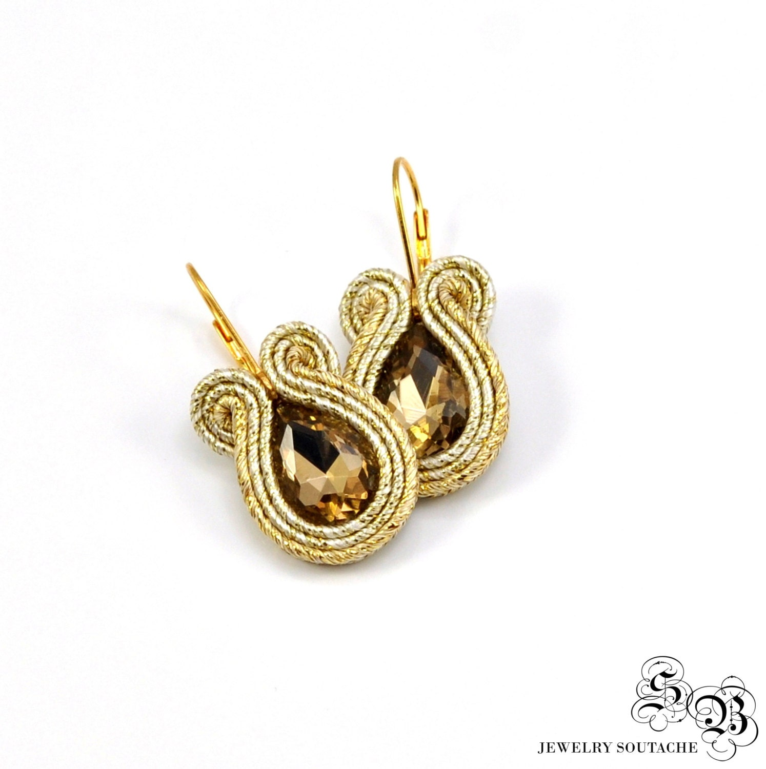 small gold soutache earrings gold soutache earrings gold