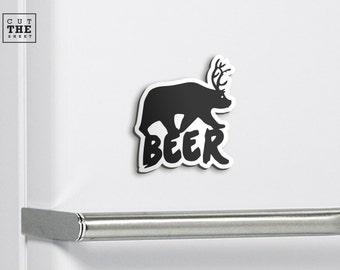 Beer Magnet - Fridge Magnet - Refrigerator Magnet - Bear Magnet - Outdoor Magnet - Adventure Magnet