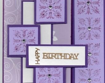 hand made birthday card.