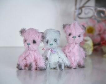 Teddy Bear - Pocket toy - Artist Teddy Bear  - Miniature  - Toy for Dolls