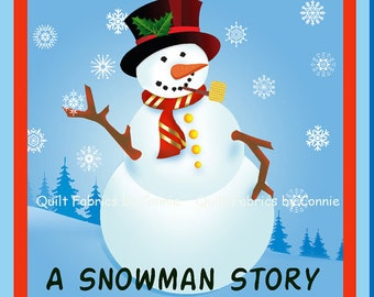 A Snowman Story Soft Book Fabric Panel