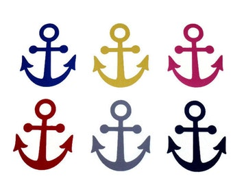 DIY Iron On Anchor, Applique Design, Anchor T Shirt Pockets , Beach Bag Applique, Red, Blue, Yellow, Gray & Pink Anchors, DIY Gifts Under 10
