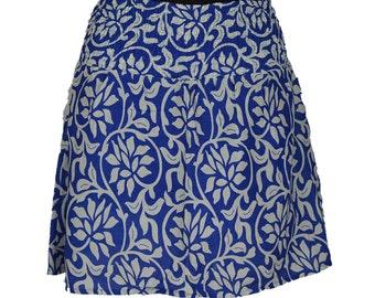 Cotton Skirt with Elastic Belt
