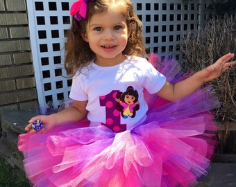 Dora The Explorer Tutu Outfit, Purple Tutu Set, Dora Tutu Set, Dora Birthday Outfit, Dora The Explorer Tutu Set, Dora Tutu Outfit