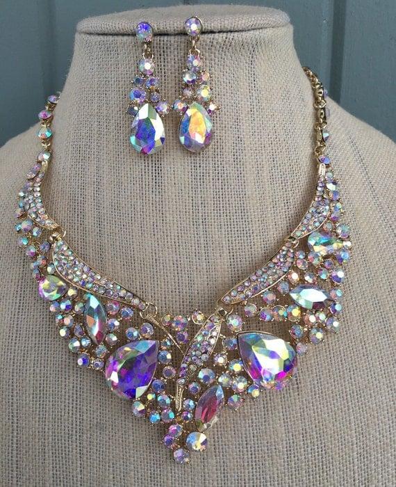 Fabulous Aurora Borealis Ab Iridescent Rhinestone Bridal