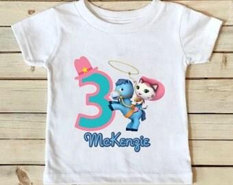 Sheriff Callie Birthday Shirt- Sheriff Callie Shirt - Birthday Shirt - Girls Birthday Shirt - Personalized Shirt - Custom Shirt