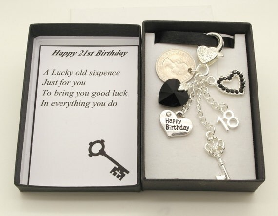 Happy birthday lucky by aheartofgoldgiftshop for 18th key of the door