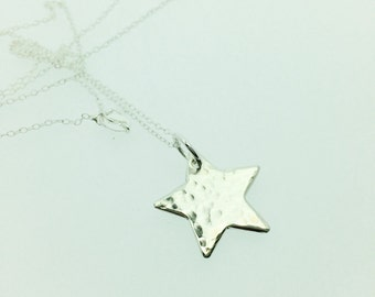 Sterling Silver Sparkling Star Necklace