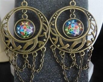 Bronze earrings ethnic style