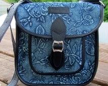 Bags & Purses  Handbags Crossbody bag Denim bag leather bag Shoulder blue bag messenger fabric bag Summer bag denim purse Gift for her Women