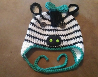 Zebra hat crochet