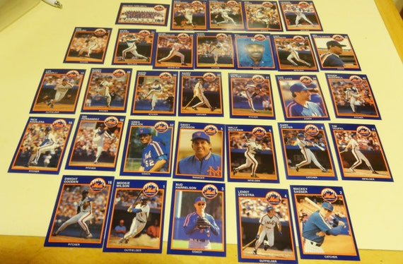 30 Cards of the 1988 New York Mets Baseball Team. Not a Full Set. David Cone, Darryl Strawberry and More