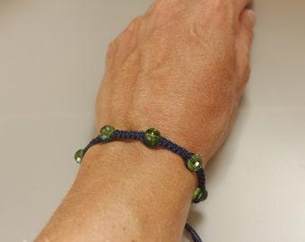 tiny friendship bracelet, simple cord bracelet, beaded bracelet
