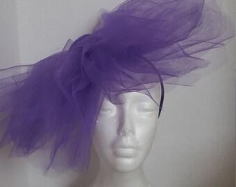 Purple Pinwheel Fascinator Headband