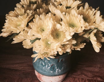 Melting Vase   Flower Vase   Blue and White   Slip Casted   Fine Arts   Visual Arts   Ceramic Arts   House Warming Gift   Home Decor