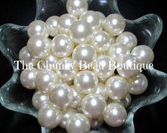 20mm ivory resin pearls