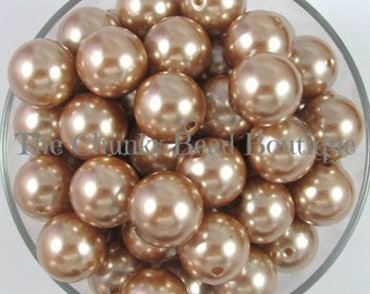 20mm champagne resin pearls, 10 pieces