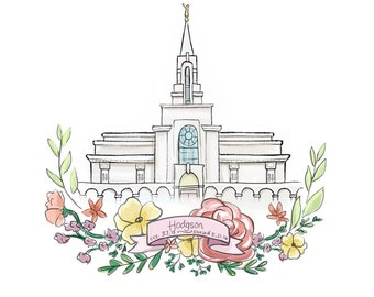 Families Are Forever Lds Temple Digital Painting Flower