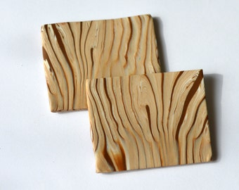 "Handmade, ""Wooden"", Cutting Board ,Polymer Clay ,Dollhouse ,Miniature, 1:12 Scale"