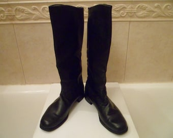 Soviet Officer leather boots. Genuine USSR Army Officer chrome boots with leather sole.