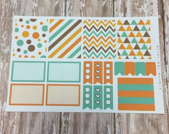 Colors of Fall Just the Basics Planner Sticker Sheet - EC Vertical