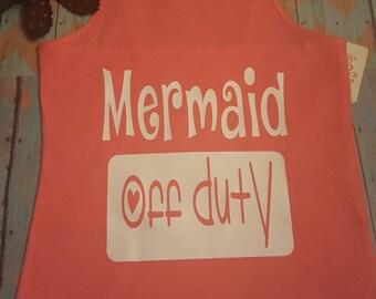 Youth Tank top mermaid off duty