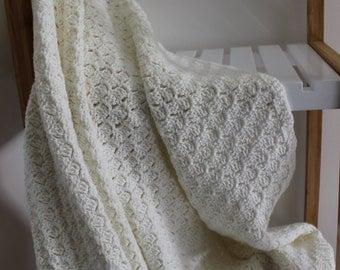 Crochet blanket-crochet floor rug-cream crochet rug-acrylic wool rug-acrylic wool throw rug-afghan throw