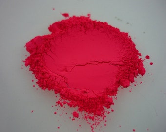 NEON BRIGHT PINK Fluorescent Pigment for Indie Nail Polish, Supplies Arts, Crafts, Soap Supplies, Candle