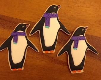 12 Penguin Cookies