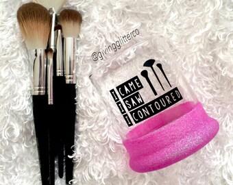 I Came I Saw I Contoured // Glitter Dipped Make Up Brush Holder