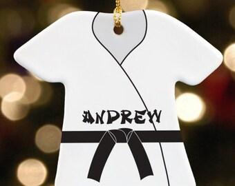 Personalized HI YA! Karate Kid Christmas Ornament