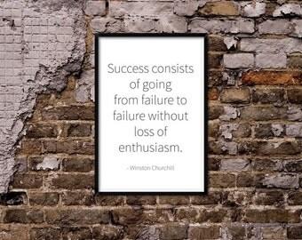 Success & Failure. Winston Churchill Quote
