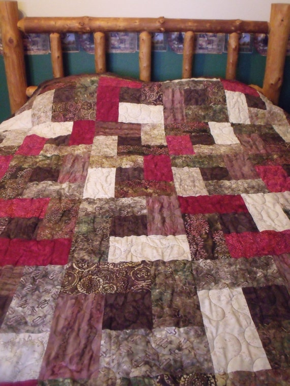 handmade quilt prices items similar to batik quilt handmade quilt size 4622
